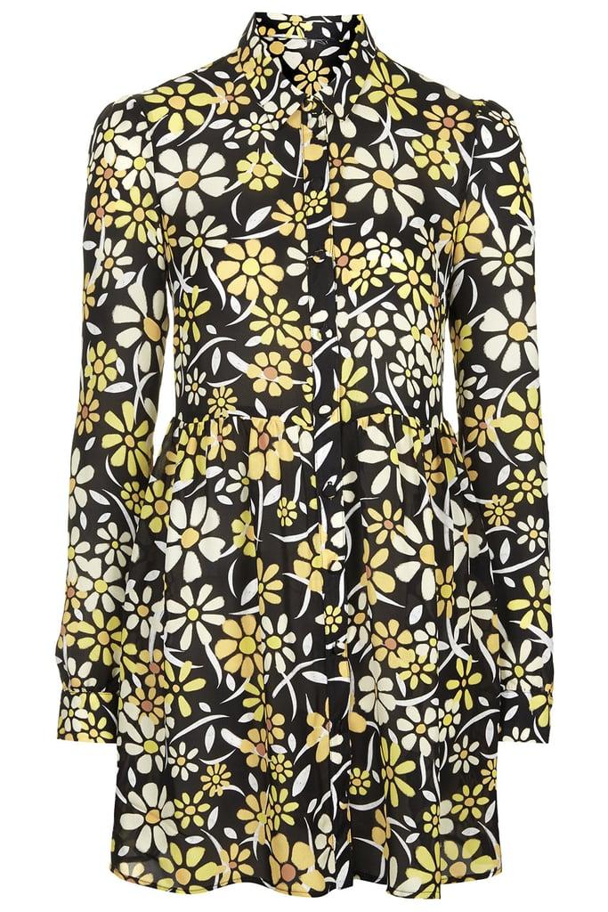 Topshop Daisy Print Shirt Dress