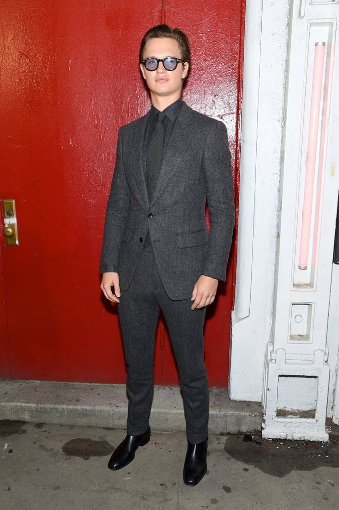 Ansel Elgort at the Tom Ford New York Fashion Week Show