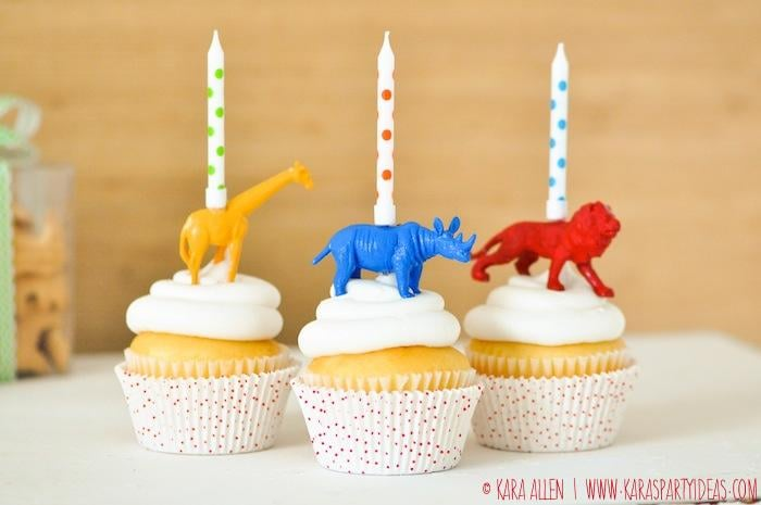 Animal Candle Cupcake Toppers