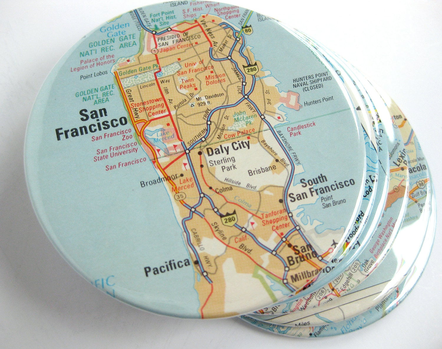 Recycled Map Coasters