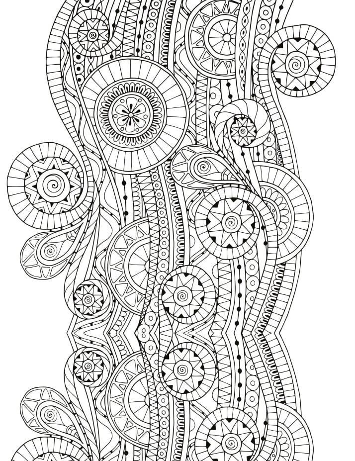 Complex Patterns Free Coloring Book Printables
