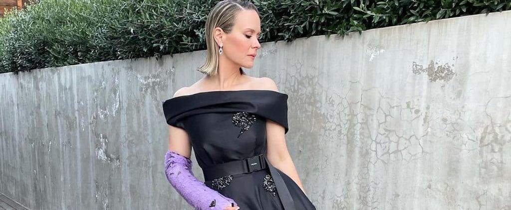 Sarah Paulson's Prada Dress and Cast at 2021 Golden Globes