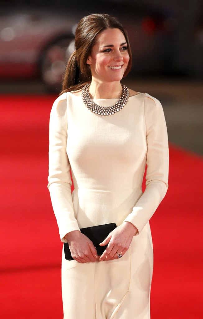 Kate attended the premiere of Mandela: Long Walk to Freedom in 2013, showing off a chunky bib necklace from Zara.