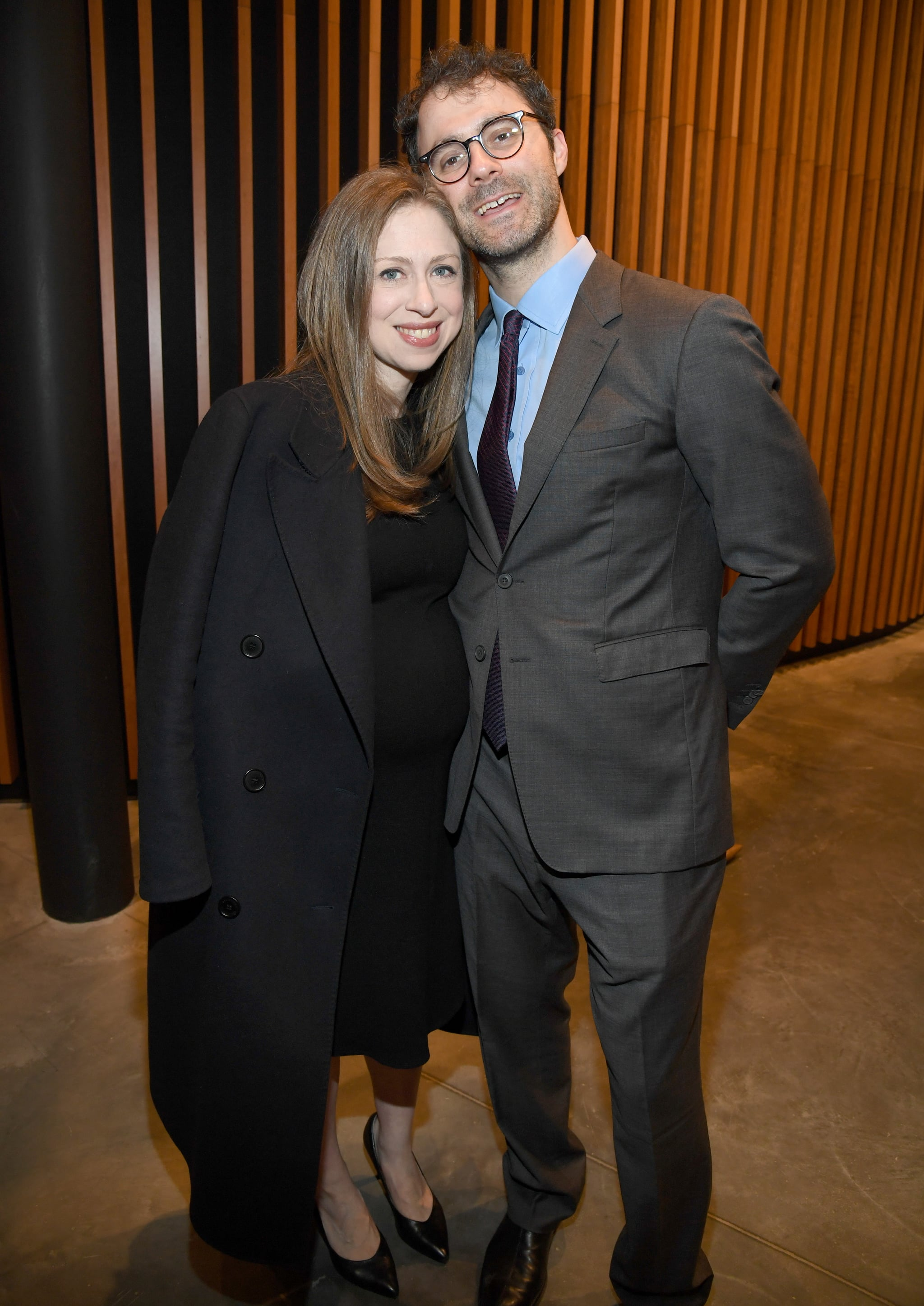 NEW YORK, NEW YORK - MAY 15: Chelsea Clinton and Marc Mezvinsky attend the Statue Of Liberty Museum Opening Celebration on May 15, 2019 at Ellis Island in New York City. (Photo by Kevin Mazur/Getty Images for Statue Of Liberty-Ellis Island Foundation)