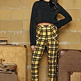 Harry Potter Tartan Hufflepuff Cuffed Pants