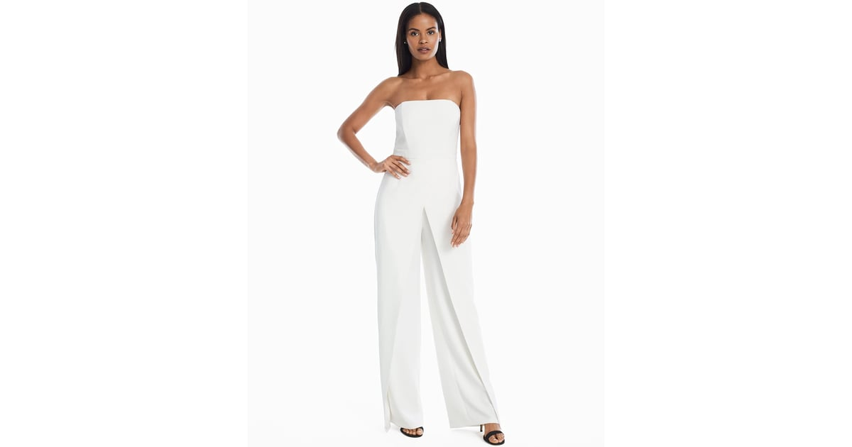 White House Black Market Convertible Strapless Split-Leg