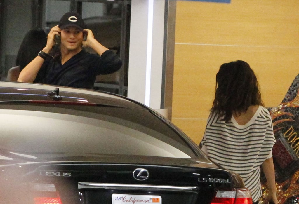 Mila Kunis and Ashton Kutcher Meet Up For a Lunch Date