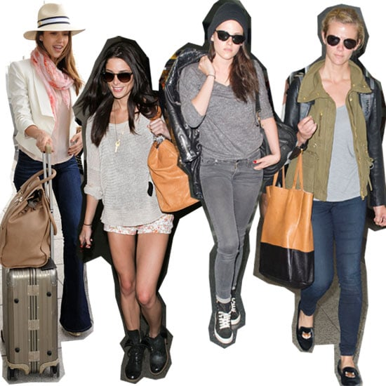 Best Dressed Celebrities In-Transit: Snoop What Jessica Alba, Kristen Stewart, Lara Bingle & Co. Wear To the Airport