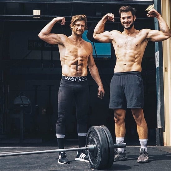 Shirtless Guys Doing CrossFit