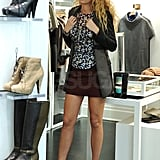 Blake Lively tried on jewelry at a NYC boutique.