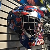 Franklin Sports is also getting in on the Superman versus Batman mania with a line of sports gear for kids — including Superman and Batman street hockey goalie masks.