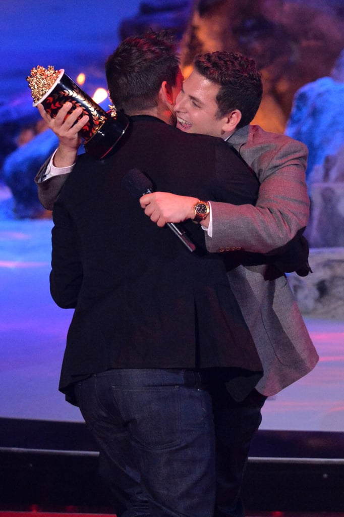 Channing embraced friend and costar Jonah Hill before giving his speech.