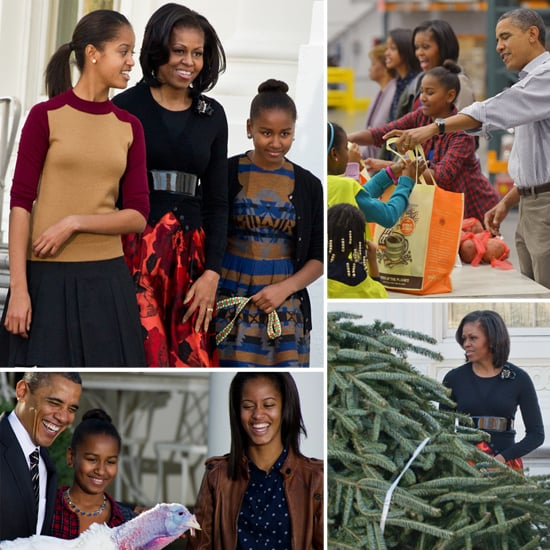Obama Family on Thanksgiving 2012