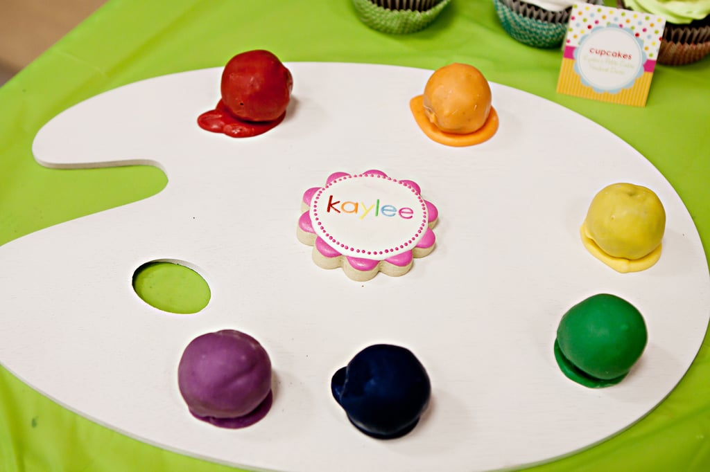 Artist Palette Cake Template : Paint Palette Cake Pops Arts and Crafts Kids Birthday ...