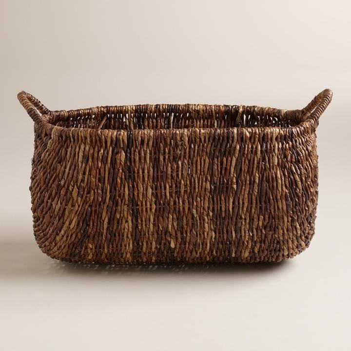 Cost Plus World Market Oval Madras Lorenzo Basket ($50)
