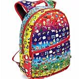 Rainbow Emoji-Print Backpack