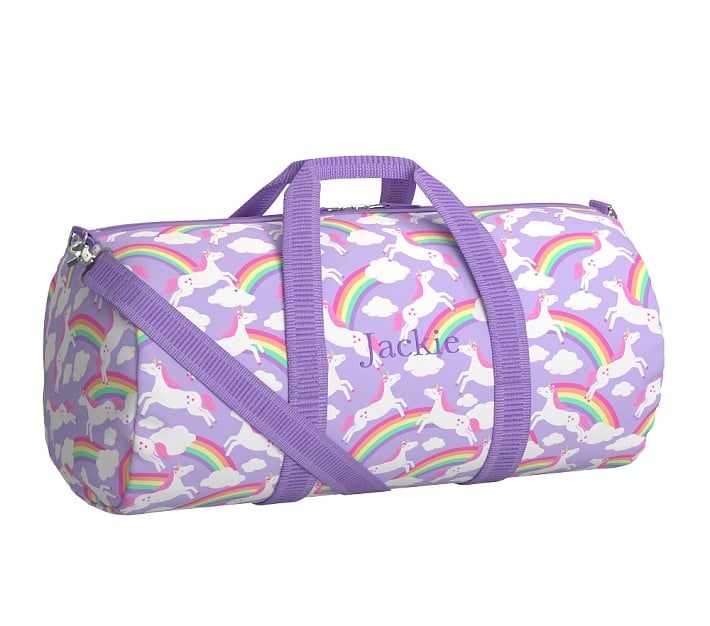Pottery Barn Kids Large Duffle, Unicorn