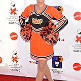 Jamie Lee Curtis also went as a cheer leader.