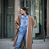 Winter Outfit Idea: Denim on Denim With a Camel Coat