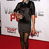 Zoe in star-studded YSL at the Vantage Point premiere in '08.
