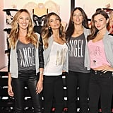 Miranda Kerr, Lily Aldridge, Adriana Lima, and Candice Swanepoel all celebrated the reopening of Victoria's Secret Herald Square together in NYC.