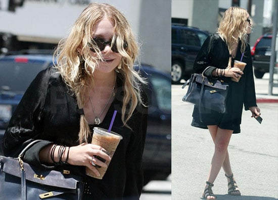 Photos of Mary-Kate Olsen Getting Coffee in LA