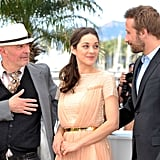 Marion Cotillard posed with her Rust and Bone costars at the Cannes Film Festival.