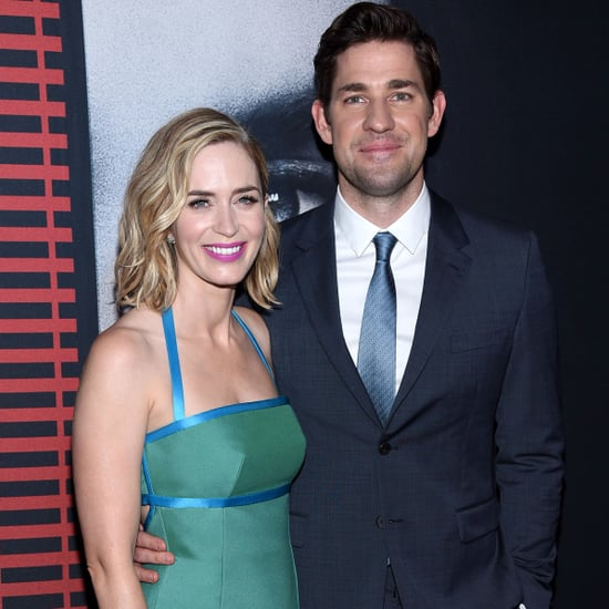 Emily Blunt and John Krasinski at Girl on the Train Premiere