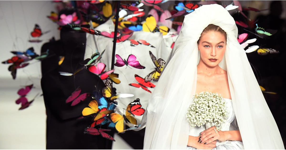 Gigi Hadid Floated Down the Runway as a Bride, and Butterflies