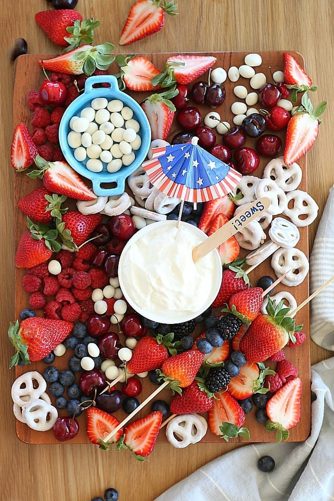Red, White, and Blue Fruit Platter