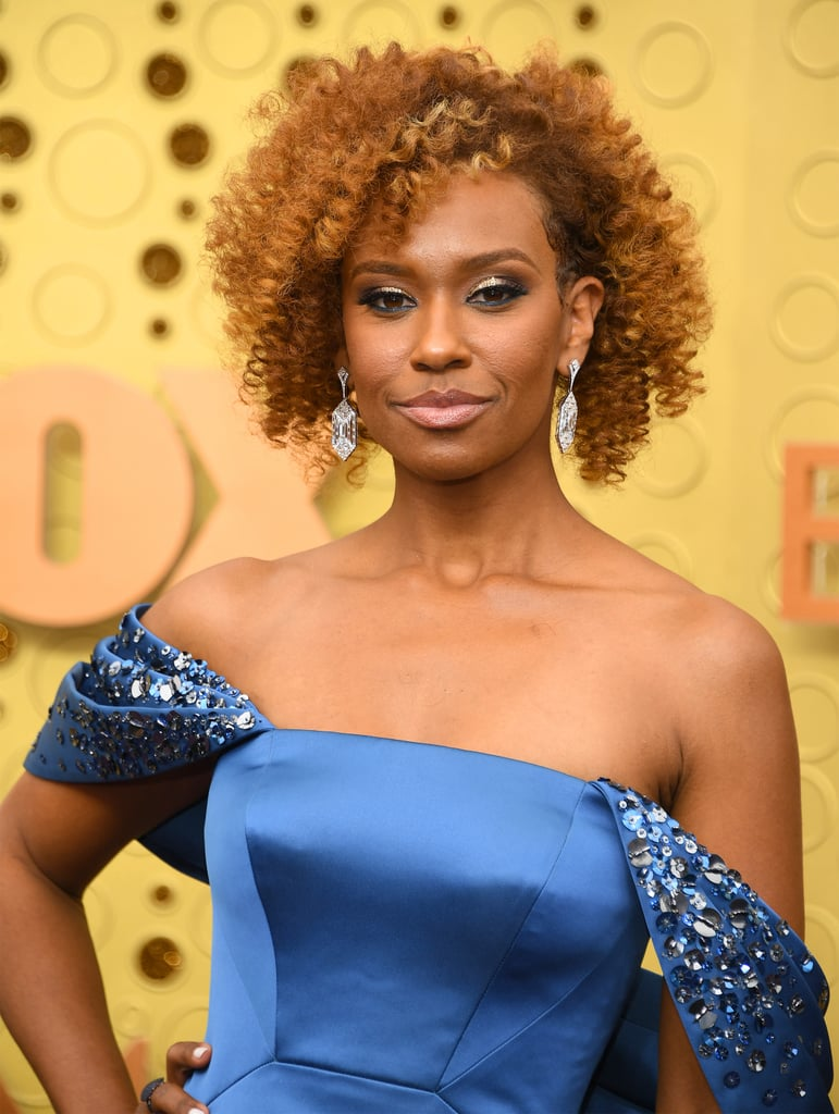 Ryan Michelle Bathe's Short Curly Bob at the Emmys 2019