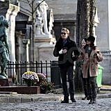 Ryan Gosling and Eva Mendes holding hands in Paris.