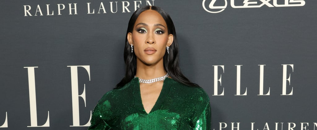 Mj Rodriguez Wore a Green Sequin Dress to Women in Hollywood