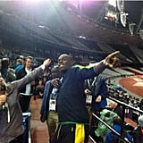 Jenna Bush Hager chatted with the fastest man in the world, Usain Bolt.  Source: Twitter user todayshow
