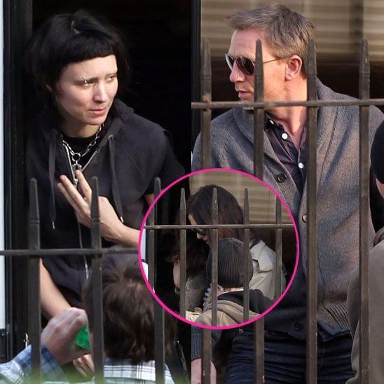 Pictures of Daniel Craig and Rooney Mara Shooting The Girl With the Dragon Tattoo