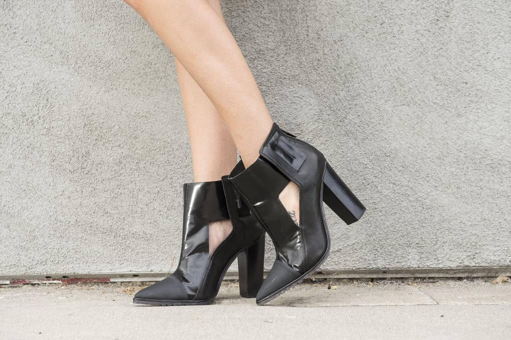 Statement Black Ankle Boots