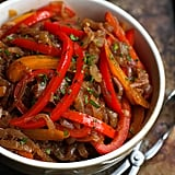 Balsamic Peppers and Onions