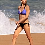 Kyra Sedgwick showed off her tight, toned bikini body while in Hawaii with her family in January.