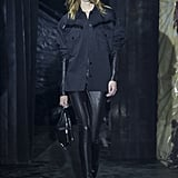 Incorporate a Strong Leather Piece Like Pants Into an All-Black Look
