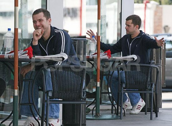 Pacey Chills in LA, Presumably There to Visit Old Friend and Aspiring Filmmaker Dawson Leery