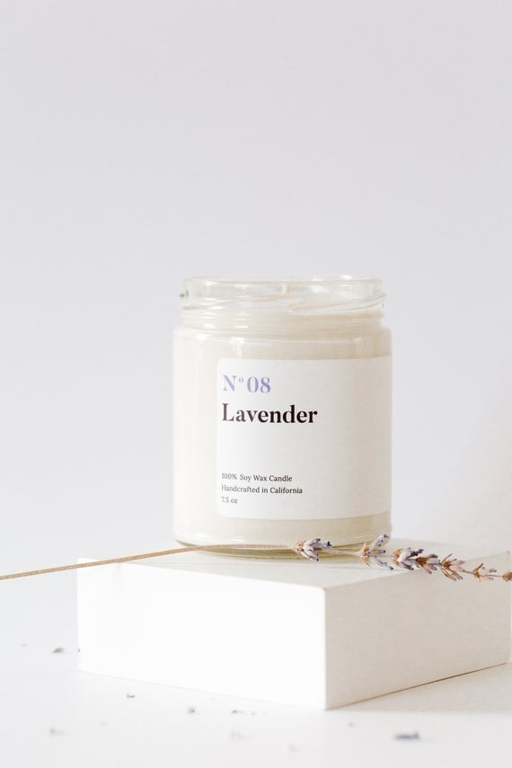 Mia's Co. N08 Lavender Candle