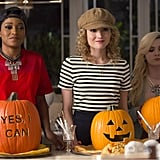 These ladies look too cute to carve pumpkins!