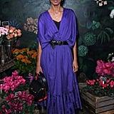 Liya Kebede Wears Alexander McQueen The Story Bag