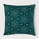 Patterned Cushion Cover in Green / Stars
