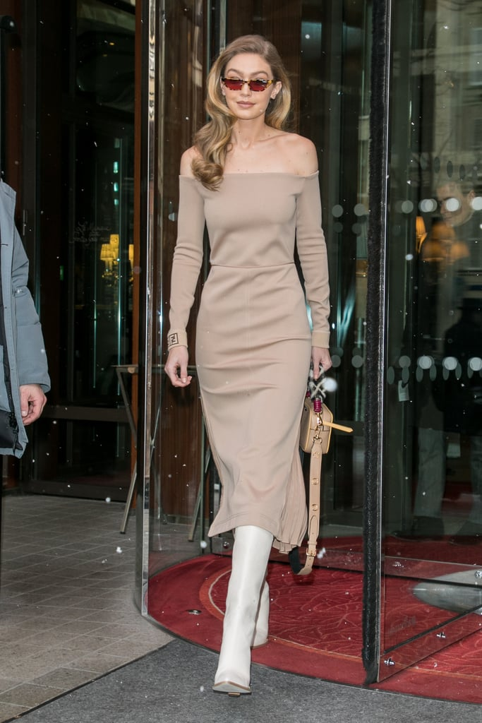 The model wore head-to-toe Fendi.