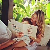 Gisele Bündchen shared a cute picture of her reading time with Benjamin. Source: Instagram user giseleofficial