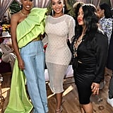 Kelly Rowland, La La Anthony, and Guest at the 2020 Roc Nation Brunch in LA
