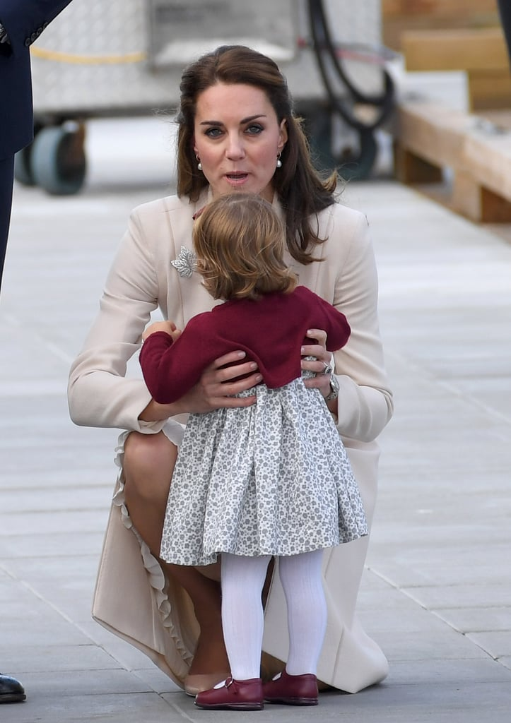 Kate Picking Up Charlotte, 2016