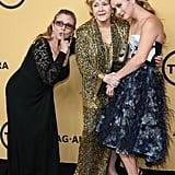 Billie Lourd, Carrie Fisher, Debbie Reynolds at SAG Awards