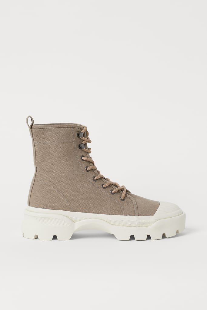 Canvas Sneaker-style Boots